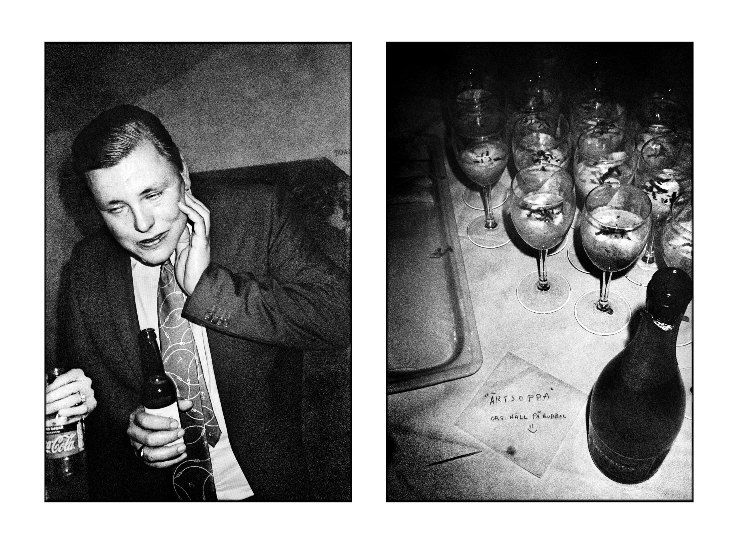 En man på galan och en bild av dryck. Alla bilder finns att köpa som print.